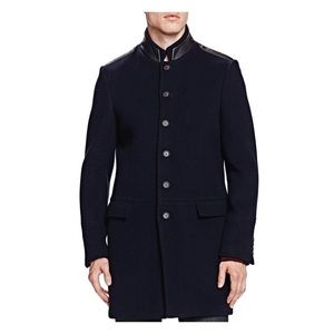 The Kooples Soft Military Wool Blend Trench Jacket